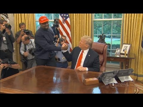 Rapper Kanye West delivers bizarre appearance in front of President Trump at Oval Office