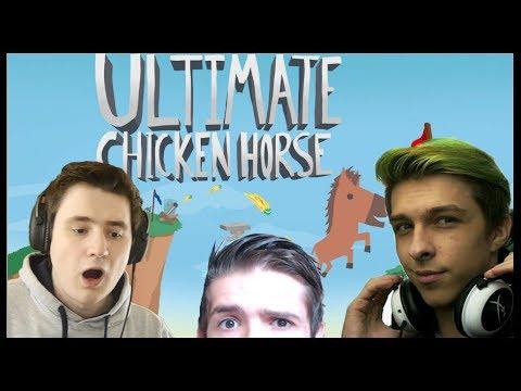 NEJTĚŽŠÍ MAPA NA SVĚTĚ! - Ultimate Chicken Horse /w MenT, Baxtrix