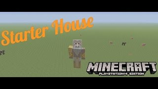 Minecraft: How to Build a Simple Starter House (Xbox/PlayStation/WiiU)