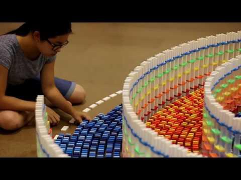Hipnotize Edici Görüntü-2 (15.000 domino taşı) (видео)