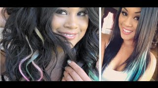 TUTORIAL: Clip-In Colored Hair Extensions