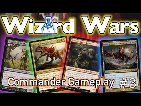 Wizard Wars Episode 3 | Commander Gameplay | Phenax, Maralen, Grenzo, and Gishath Battle it out