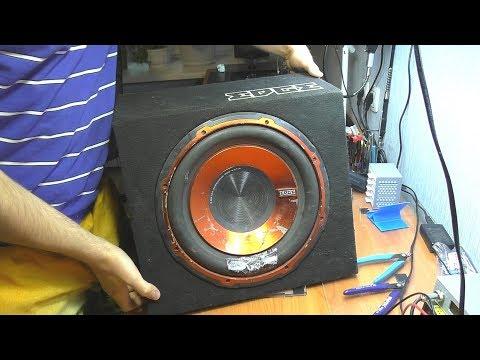 Мигает индикатор питания / Не включается автомобильный сабвуфер EDGE ED7200-D1 (ED512) (видео)