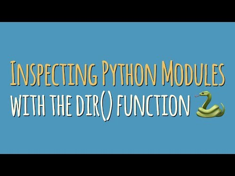 Inspecting Python Modules and Classes With \