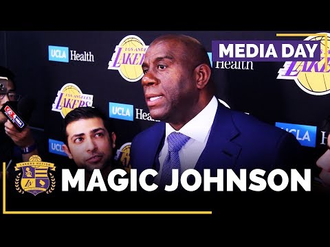 Video: Lakers Media Day: Magic Johnson (FULL INTERVIEW)