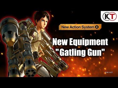 New Equipment: Gatling Gun de Attack on Titan 2: Final Battle