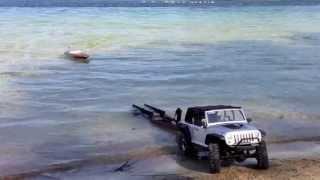 Rc Boat Trailer Launch / Recovery. Axial SCX10 Jeep Wrangler Rubicon, Pro Boat Volere 22