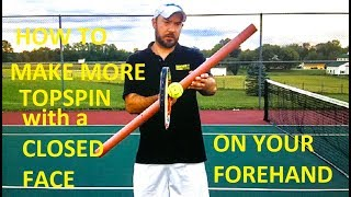 In this video, Hammer It Tennis Creator, Coach Daniel Dodson explains how the racquet's face angle and the swing path combined with the racquet face generate topspin on your forehand!