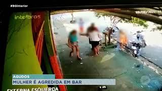 Agudos: mulher é agredida durante discussão em bar