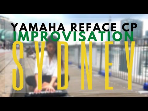Belle Chen - Improvising on Yamaha Reface CP: Darling Harbour, Sydney