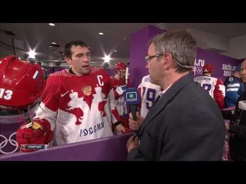 Pavel Datsyuk Post-Game Interview Russia Finland 2014 Olympics [ENG SUBTITLES]