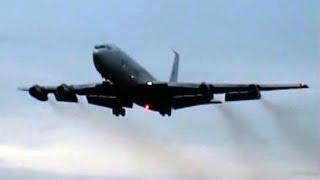 Boeing 707-320C TCA - Loud Screaming Landing & Takeoff @ NATO Airbase Geilenkirchen