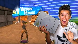 My Little Brother PLAYS Fortnite Battle Royale ON PLAYSTATION 1