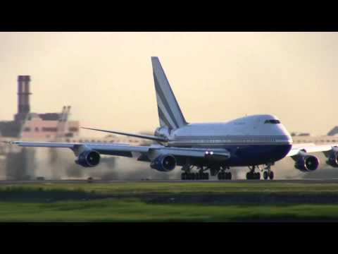 "Sheldon Adelson's Boeing 747 SP ""Special Performance"" At Boston Logan"