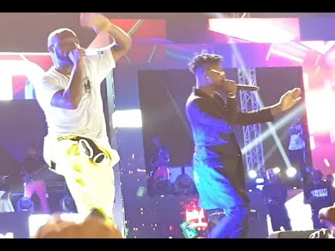 Lil Kesh Storms On Stage To Surprise Davido As They Perform Together At His Concert
