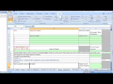 how to fill hra in itr