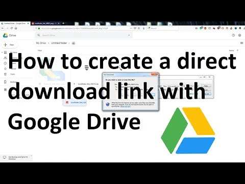 How to create a direct download link from Google Drive