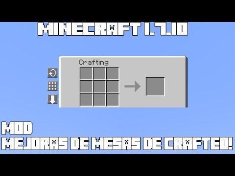 Minecraft 1.7.10 MOD MEJORAS DE MESAS DE CRAFTEO! Crafting Tweaks Mod Español!