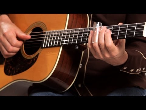 How to Play with a Bottleneck Slide | Country Guitar