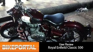 7. Royal Enfield Classic 500 User Review - 'powerful engine' - Bikeportal