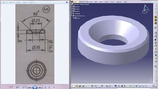 Catia V5 Tutorial|P5-Create Screw Jack|Washer Special|Mechanical Engineering Design