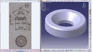 Catia V5 Tutorial|P5-Create Screw Jack|Washer Special|Mechanical Engineering Design