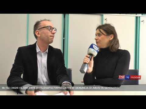 19/02/2020 | IL DOCENTE DI FILOSOFIA FIRMA L'ATTO DI DENUNCIA DI ABUSI IN SEMINARIO