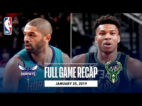 Video: Full Game Recap: Hornets vs Bucks | Giannis Antetokounmpo Goes For 34 Points