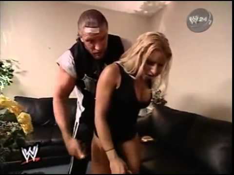 WWE Triple H Gets Busted With Trish Stratus Backstage by Stephanie Mcmahon