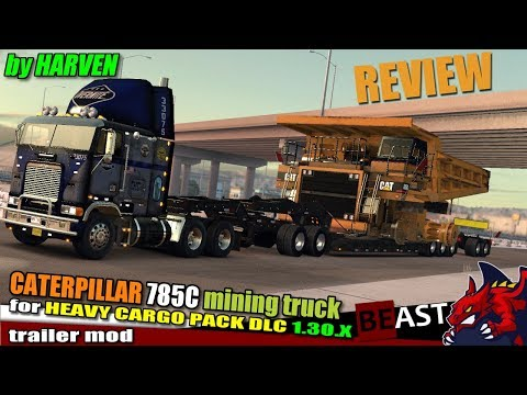 Caterpillar 785C Mining Truck for Heavy Cargo Pack DLC 1.30.x