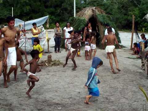 índios em Peruíbe  - SP - visita do curso de Direito da UNINOVE.