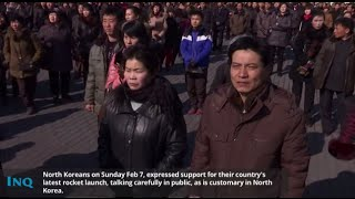 North Koreans react over latest rocket launch