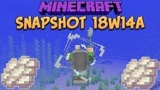 Minecraft 1.13 Snapshot 18w14a Phantom Membrane! Slow Falling Potion & Trident Riptide Changes