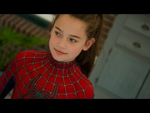 Spider-Girls! - 2 Kids (13 & 11) dress up in movie quality Spider-Man suit