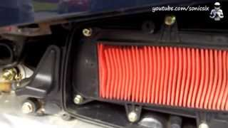 10. Air Filter Change on a Kymco Like 200i Scooter