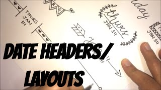 Doodle with me - Bullet journal headers/date layouts | PART 1