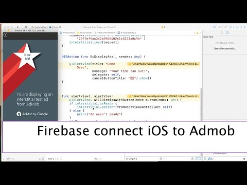 39-iOS    Firebase connect to AdMob     الربح من الاعلانات