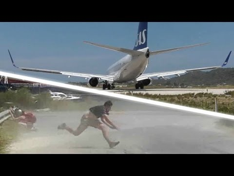 blast - A dangerous jetblast by an SAS 737-783 at the Second St Maarten! Watch the pilots and passengers wave to the plane spotters as the aircraft lines up on runwa...