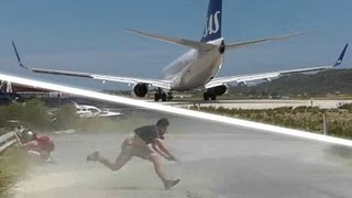 For more spotting at Skiathos, visit my patreon page ➤ http://patreon.com/greatflyer A dangerous jetblast by an SAS 737-783 at the...