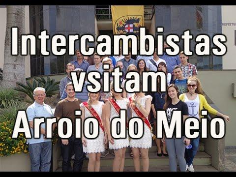 Vídeo Intercambistas visitam Arroio do Meio