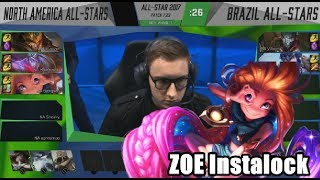 Video Bjergsen Instalocks Zoe, NA VS Brazil Highlights - 2017 All-Star Day 1 MP3, 3GP, MP4, WEBM, AVI, FLV Agustus 2018