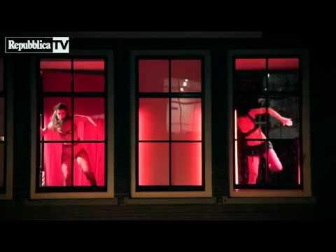 Baile en el barrio rojo de Amsterdam