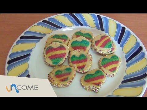 biscotti arcobaleno di san valentino - la videoricetta