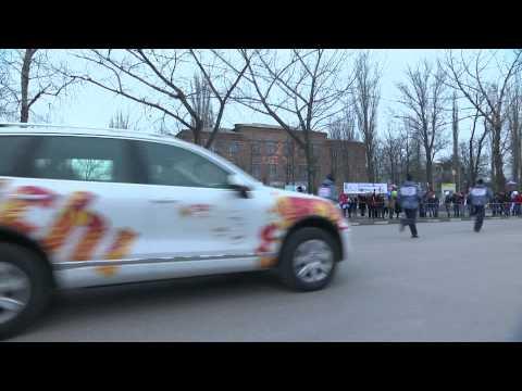ВИДЕО. Олимпийский огонь в Шахтах