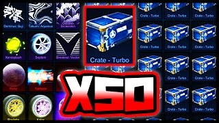 50 NEW TURBO CRATE OPENING IN ROCKET LEAGUE!!