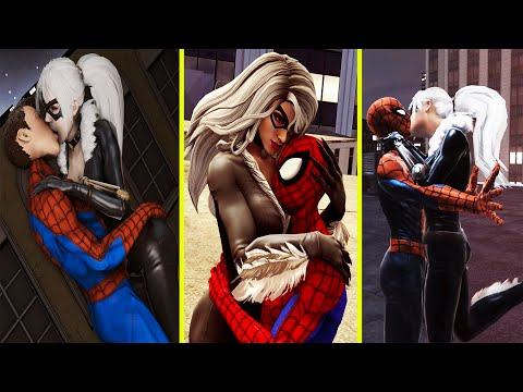 Spider Man & Black Cat's All Ki$s, Hug, Proposed, Sleep Together & Rom@nce Scenes Marvel's Avengers