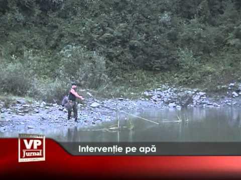 Intervenție pe apă