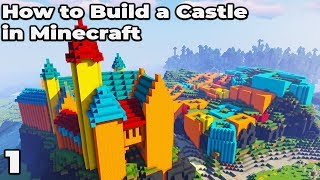 How to Build an Awesome Castle in Minecraft 1.14.4 / 1.15 #1