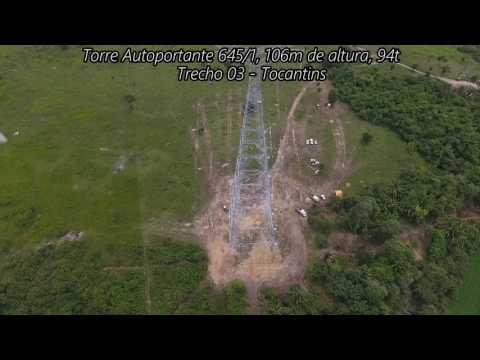 Filmagem lançamento de cabo piloto e óptico sobre o Rio Araguaia 17- 01- 17 - Tabocas - Floresta-PA
