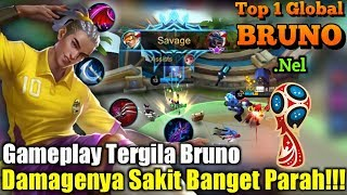 Video Gameplay Tergila Bruno | Damagenya Sakit Banget Parah!!! - Top 1 Global Bruno .Nel MP3, 3GP, MP4, WEBM, AVI, FLV Desember 2018